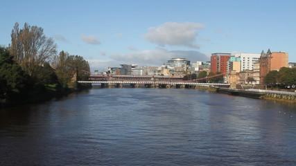 Bridges over River Clyde Glasgow Scotland