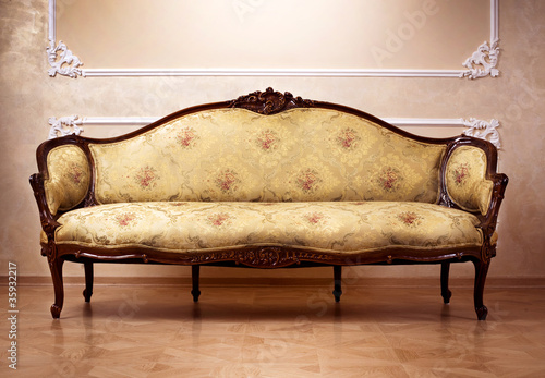 Luxury Interior. Carved Furniture