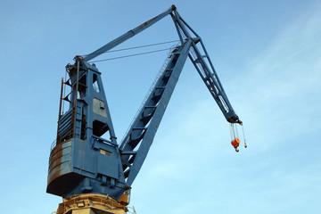 alter Verladekran im Hamburger Hafen