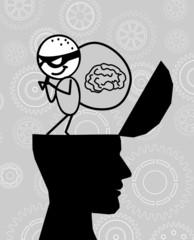 thief take the brain from head