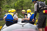 Group of people ready for rafting