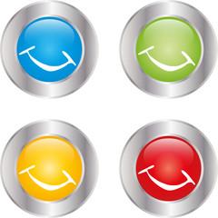Lächeln, Smiley, Logos, Zeichen, Symbol, Button