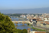 Bridges over the River Arno in Florence Tuscany Italy poster