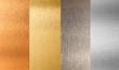 Leinwandbild Motiv gold silver bronze nonferrous metal set