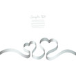 Silver Ribbon 2 Hearts