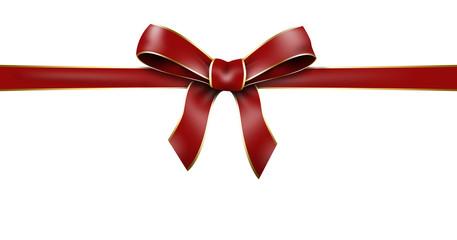schleife geschenkband rot goldrand edel