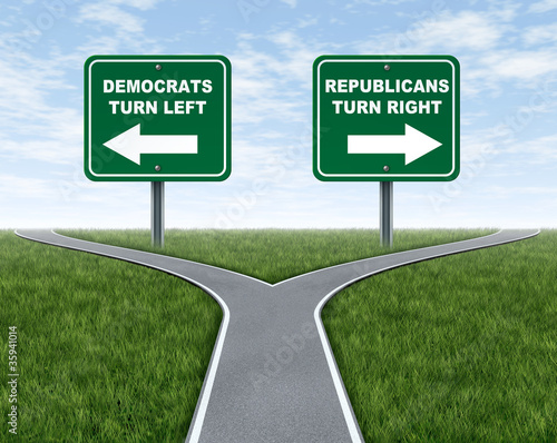 Democrats and Republicans election choices