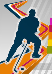 Hockey concept poster template. Vector illustration.