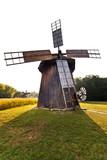 Ancient windmill replica poster