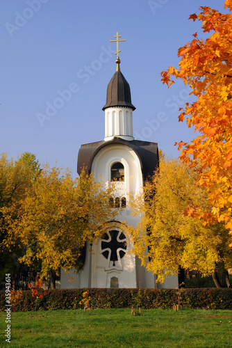White Chapel in the Fall
