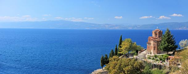 St. Jovan Kaneo church overlooking Ohrid lake
