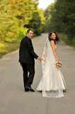 beauty, couple, lifestyle, walking, wedding, young