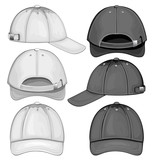 Vector illustration of baseball cap