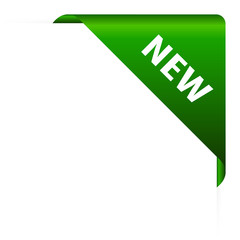 New corner header vector illustration
