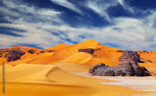 In de dag Algerije Sahara Desert, Algeria