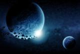 Planet space design illustration
