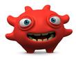 Leinwanddruck Bild - happy red virus