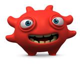 happy red virus