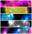 Disco and Nightclub/  set of 5 banners / vector eps10