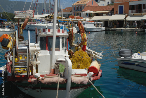 Fiskardo Harbour on Islan of Kephalonia Greece