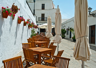 Terrace in the sun, Spain