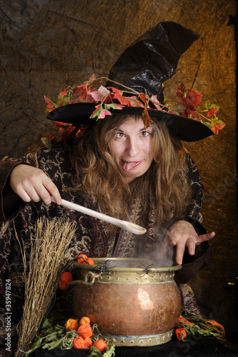 crazy halloween witch