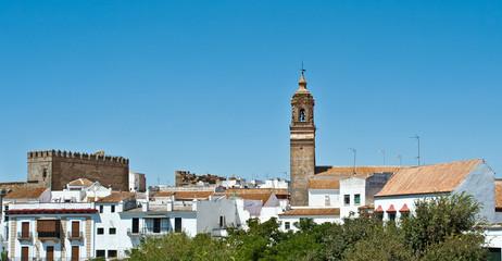 White village under a blue sky, Spain
