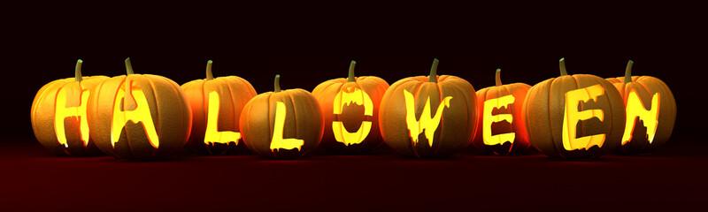 Pumpkins Halloween words