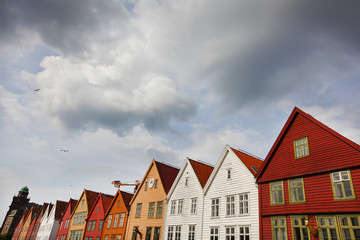 Historical wooden houses in Bergen, Norway