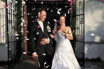 beauty, celebration, couple, expressing, fun, wedding