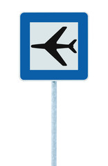 Airport sign isolated road traffic airplane icon signage