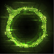 Vector Abstract green technical background