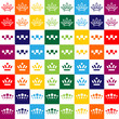 set of simple crown icons