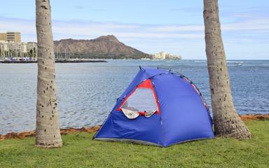 Camping by Diamond Head