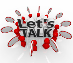 Let's Talk People Group in Circle Discuss in Speech Clouds