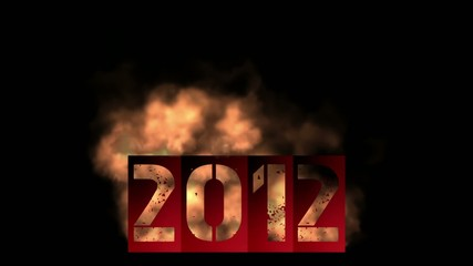2012 new year with fire