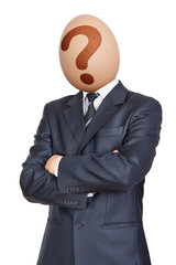 Businessman with Egg Head