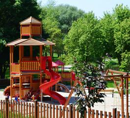 Modern playground in a leisure park