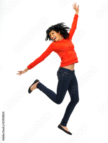 Happy dancing girl