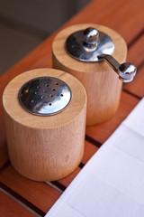 Moulin à poivre et Salière en bois