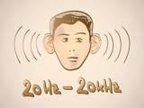 Hertz frequency spectrum range - illustration poster