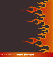 eps Vector image: Fire pattern