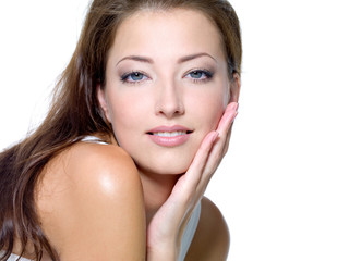 Beauty Face of a health beautiful young woman