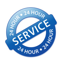"""24 HOUR SERVICE"" Stamp (customer satisfaction support button)"