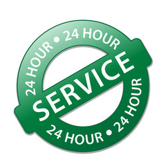 """24 HOUR SERVICE"" Stamp (opening hours customer support button)"