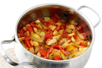 "stewing  vegetable meal ""ratatuille"""