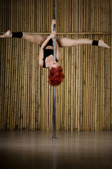Sexy pole dance woman