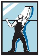 Podkładka pracownik mycie okien sprzątanie