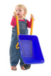 Child with wheelbarrow