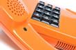 Detail 80er Telefon orange